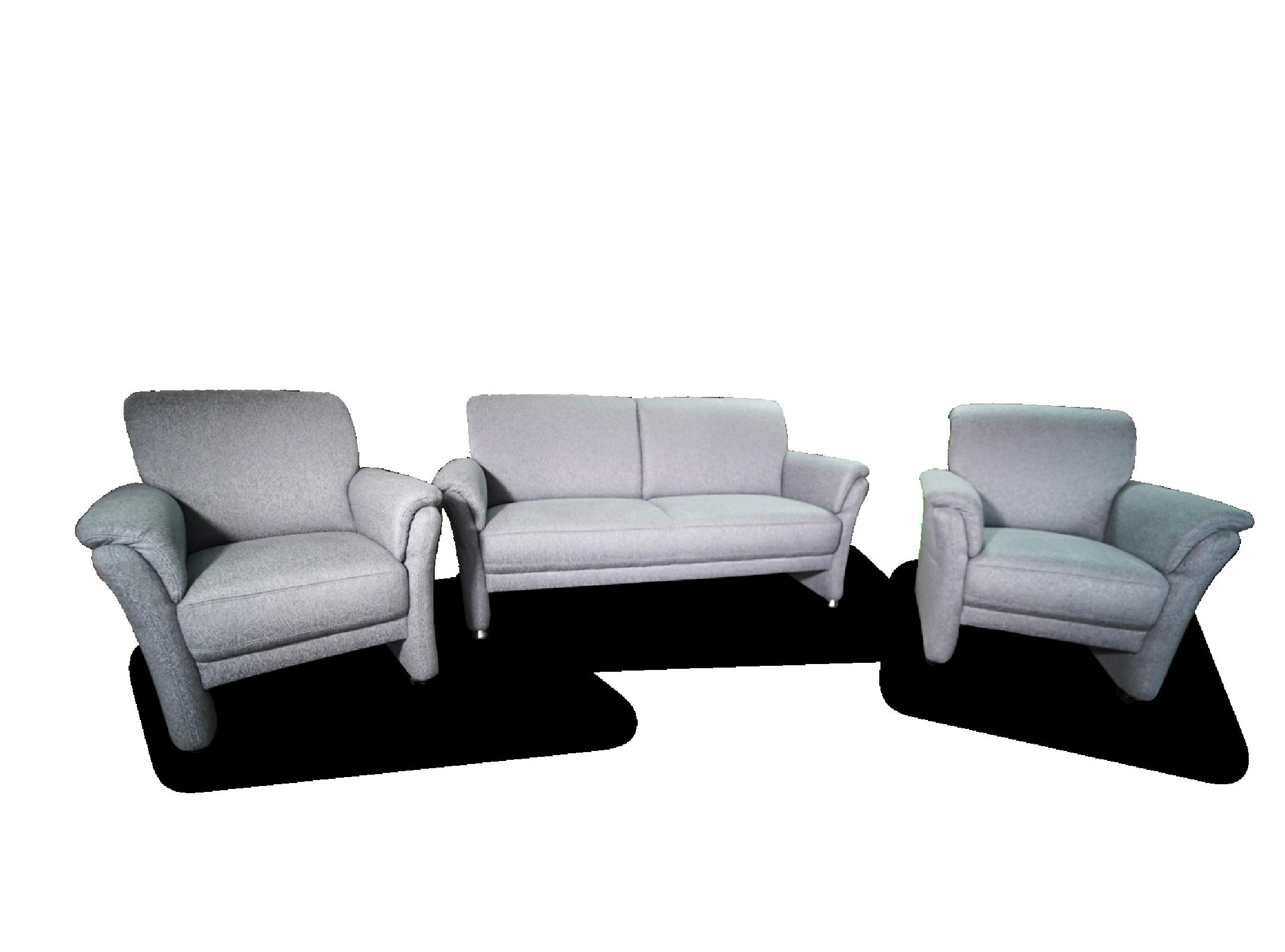2 Sitzer mit 2 Sesseln