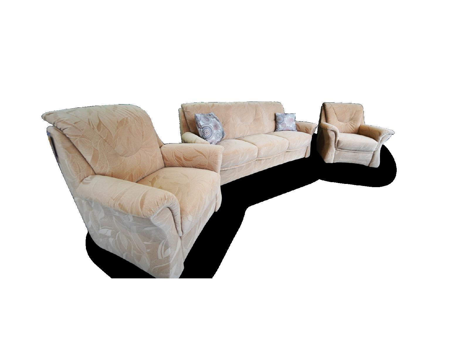 3 Sitzer mit 2 Sessel