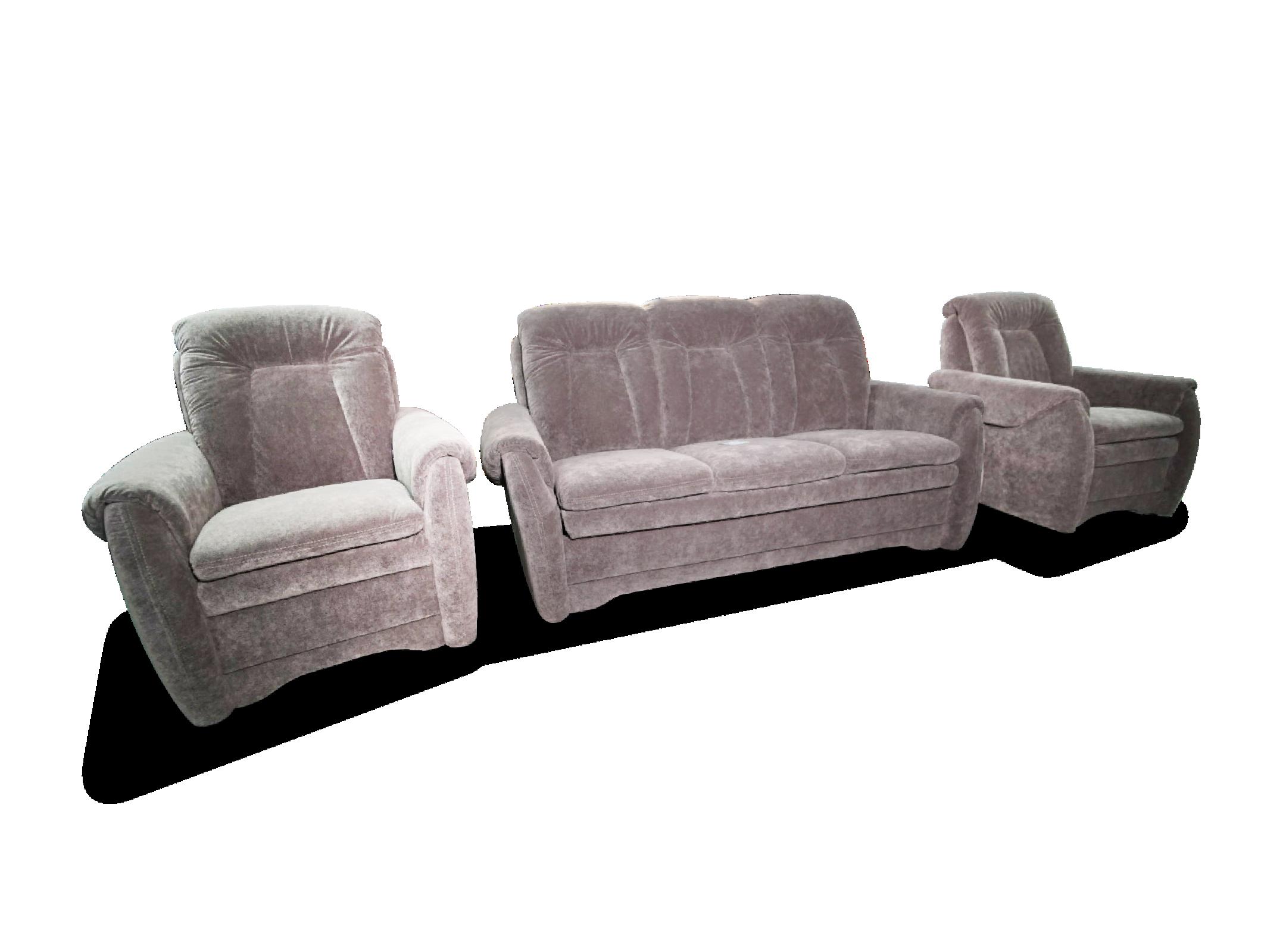 3 Sitzer mit 2 Sesseln
